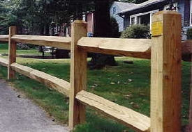 2 Rail Pressure Treated Fence