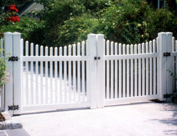 Open Picket Concave Fence   - Abel Fence Company of New Hampshire